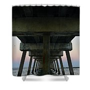 Pierhenge Shower Curtain by Laura Fasulo