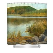 Piermont Shoreline Shower Curtain