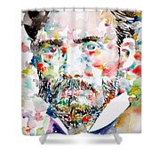 Pierre-auguste Renoir Watercolor Portrait Shower Curtain