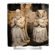 Pierre Jeannin And His Wife Sculpture Cathedral Autun Shower Curtain