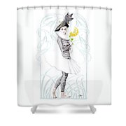 Pierrette In Love Shower Curtain