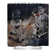 Pierrot Lunaire Shower Curtain