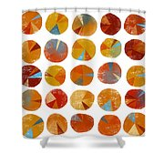 Pies Are Squared Shower Curtain