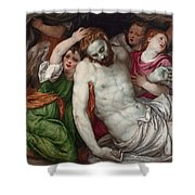 Pieta And Angels Shower Curtain