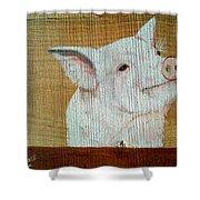 Pig Smile Shower Curtain