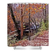 Pigeon Forge River Shower Curtain