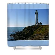 Pigeon Point Light Station Shower Curtain
