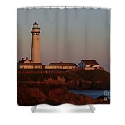 Pigeon Point Lighthouse At Sunset Shower Curtain