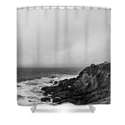 Pigeon Point Lighthouse Shower Curtain by Ralf Kaiser