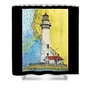 Pigeon Pt Lighthouse Ca Nautical Chart Map Art Shower Curtain