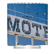 Pigeon Roost Motel Sign Shower Curtain