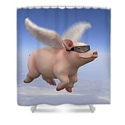 Pigs Fly 1 Shower Curtain