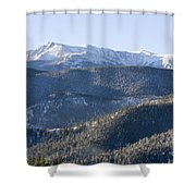 Pike National Forest In Snow Shower Curtain