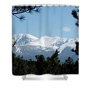 Pikes Peak After A Snowstorm Shower Curtain