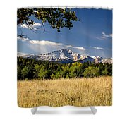 Pikes Peak And Snow Shower Curtain