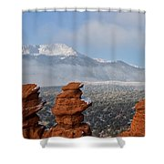 Pikes Peak In The Clouds Shower Curtain