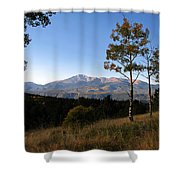 Pikes Peak Landscape Shower Curtain
