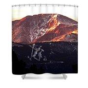 Pikes Peak Sunrise Close-up Shower Curtain