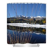 Pikes Peak Through The Grass Shower Curtain