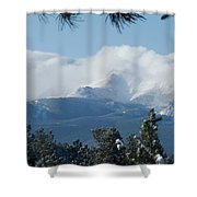 Pikes Peak Under The Clouds Shower Curtain