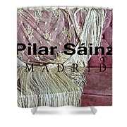 Pilar Sainz Designer Shower Curtain