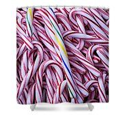 Pile Of Candy Canes Shower Curtain