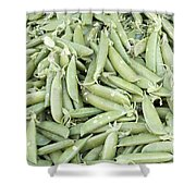Pile Of Sugar Peas Background Shower Curtain
