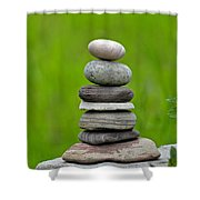 Piled Stones Shower Curtain