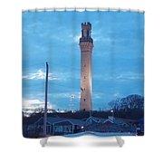 Pilgrim Tower Shower Curtain