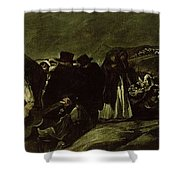 Pilgrimage To San Isidros Fountain, C.18213 Oil On Canvas Shower Curtain