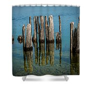 Pilings Shower Curtain