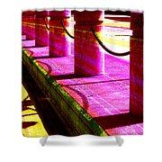 Pillars And Chains - Color Rays Shower Curtain