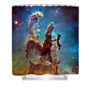 Pillars Of Creation In High Definition - Eagle Nebula Shower Curtain