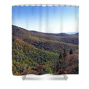 Pilot Mountain Near Balsam Grove Shower Curtain