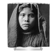Pima Indian Girl Circa 1907 Shower Curtain by Aged Pixel
