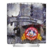 Pin Traders Downtown Disneyland Photo Art Shower Curtain