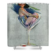Pin Up, 1914 Shower Curtain