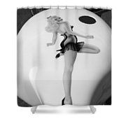 Pin Up Shower Curtain