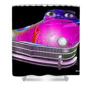 Pin Up Cars - #1 Shower Curtain by Gunter Nezhoda