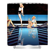 Pin Up Girls By 4 Shower Curtain