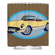 Pin Up Vette Shower Curtain