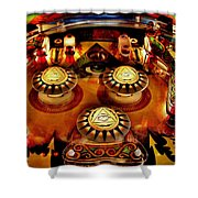 Pinball All Seeing Eye Shower Curtain by Benjamin Yeager
