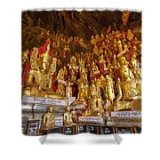 Pindaya Cave With More Than 8000 Buddha Statues Myanmar Shower Curtain