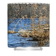 Pine Acres Lake Blues  Shower Curtain
