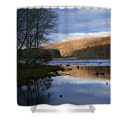 Pine Acres Lake Reflections  Shower Curtain