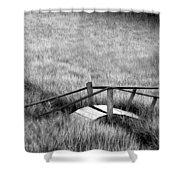 Pine Creek Bridge Shower Curtain