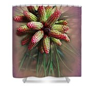 Pine Flower Bouquet Shower Curtain