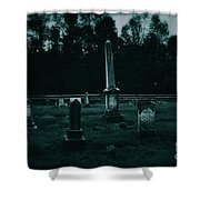 Pine Hill Cemetery Shower Curtain