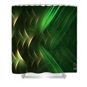 Pine Shower Curtain by Kim Sy Ok