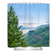 Pine Tree And Columbia River Gorge Shower Curtain